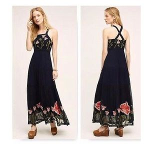 Anthropologie Flores embroidered maxi dress Size 2